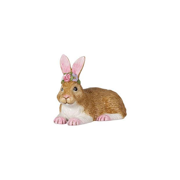 Easter Bunnies coniglio piccolo sdraiato, marrone/rosa, , large