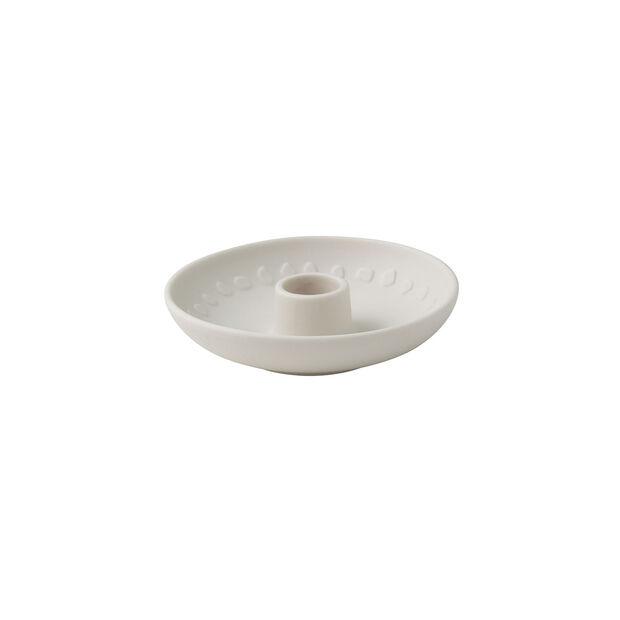 it's my home portacandele Blossom, 12x3 cm, bianco, , large