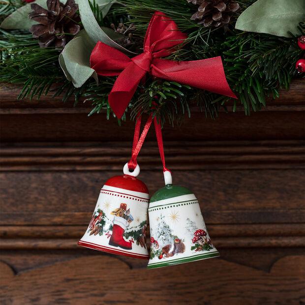 My Christmas Tree campana con motivo de ardillas, 5,5 x 5,5 x 6,9 cm, , large