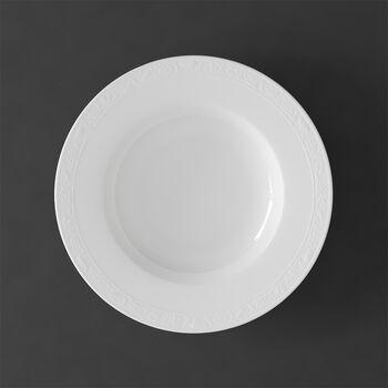 White Pearl plato hondo