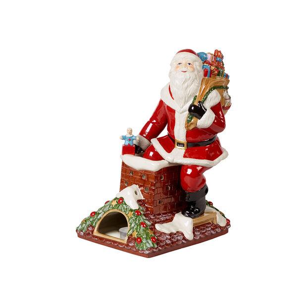 Christmas Toy's Memory figura de Papá Noel en el tejado, varios colores, 23,5 x 17 x 32 cm, , large