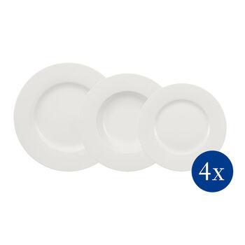 Wonderful World White set di piatti 12 pezzi