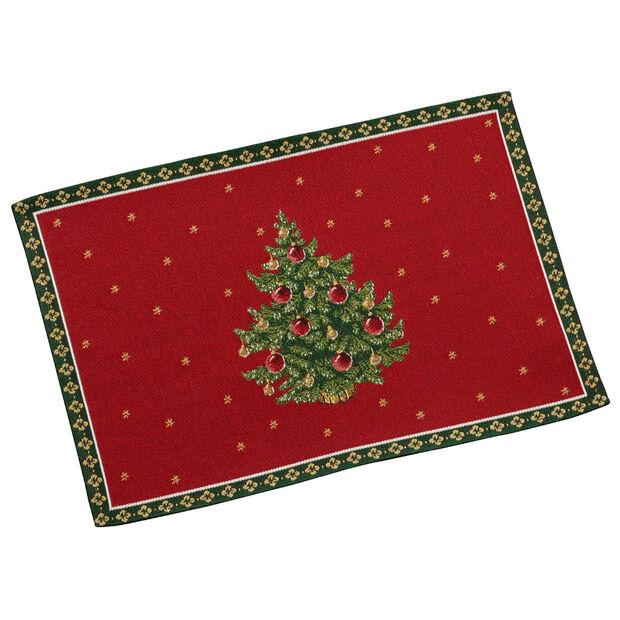 Toy's Delight tovaglietta gobelin, motivo albero, rosso/multicolore, 32 x 48 cm, , large