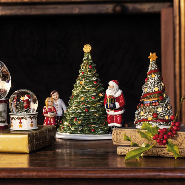 Christmas Toy's Babbo Natale sull'albero, verde/multicolore, 20 x 17 x 23 cm, , large