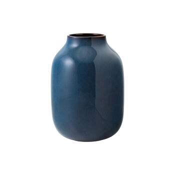 Lave Home vaso Shoulder, 15,5x15,5x22cm, blu tinta unita
