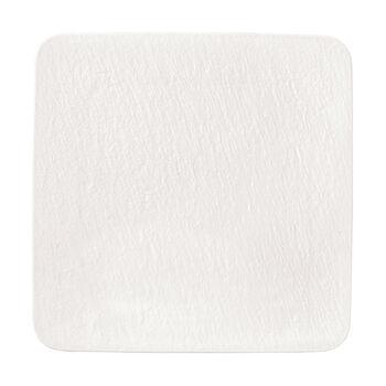 Manufacture Rock Blanc piatto da portata/piatto da gourmet quadrato, bianco, 32,5 x 32,5 x 1,5 cm