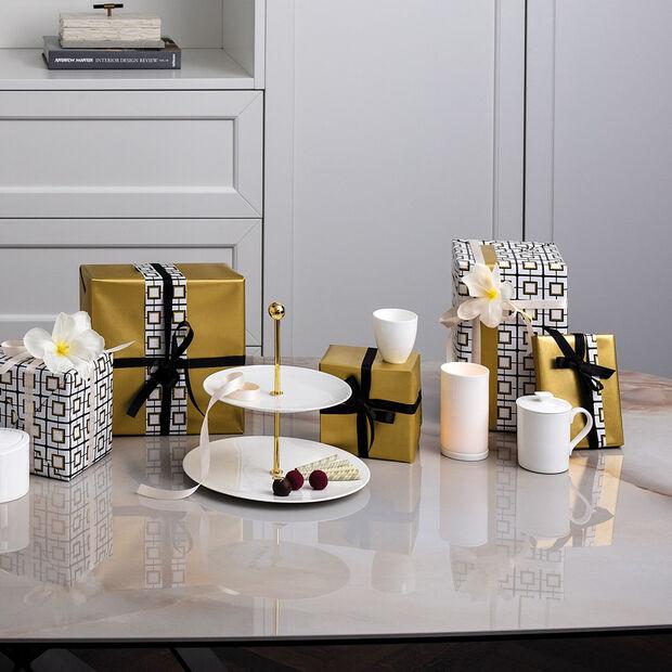 MetroChic blanc Gifts Tazza con coperchio 11,5x8,5x11cm, , large