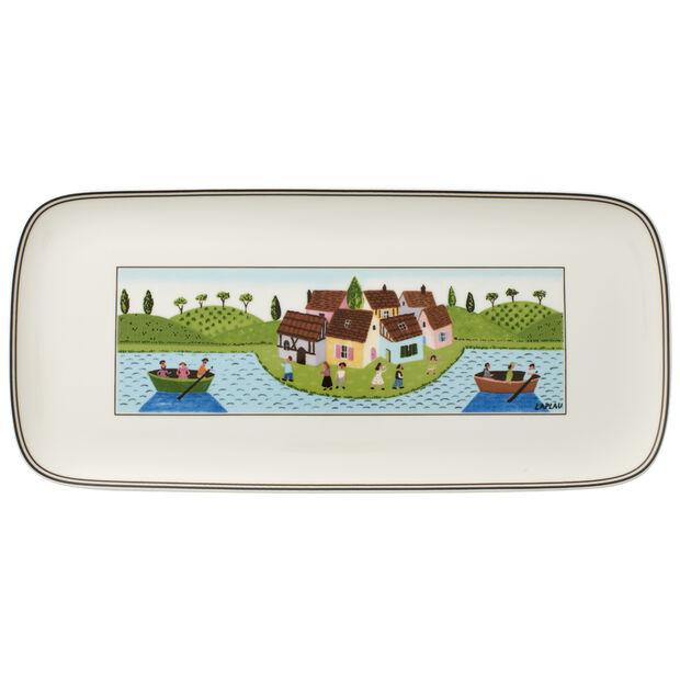 Charm & Breakfast Design Naif fuente rectangular para tartas de 35 x 16 cm, , large
