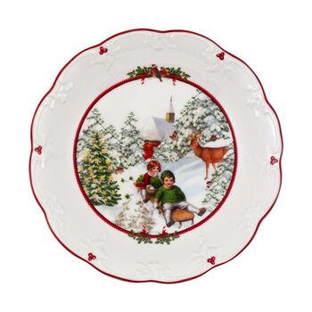 Toy's Fantasy ciotola grande giro in slitta, multicolore/rossa/bianca, 24,5 x 24,5 x 4 cm