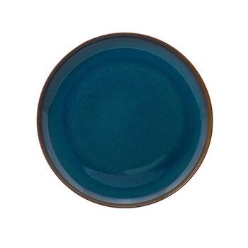 Crafted Denim piatto piano, blu, 26 cm