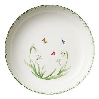 Colourful Spring ensaladera grande, 5,2 l, blanco/verde