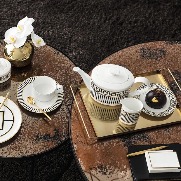 MetroChic bricco da caffè e teiera, 1,2 l, bianco-nero-oro, , large