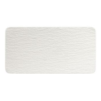 Manufacture Rock Blanc fuente rectangular para servir, blanco, 35 x 18 x 1 cm