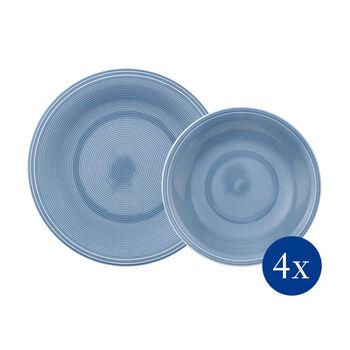 Color Loop Horizon set da tavola, azzurro, 8 pezzi