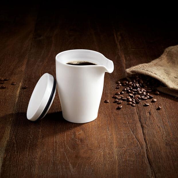 Coffee Passion bricco da caffè a doppia parete con coperchio, , large