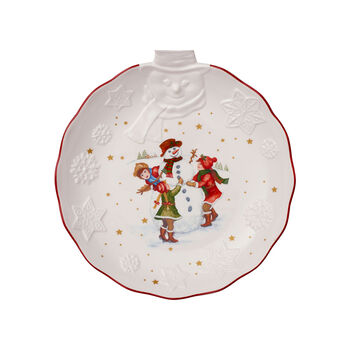 Toy's Fantasy fuente en relieve con motivo de muñeco de nieve, blanco/varios colores, 26 x 24,5 x 4,4cm