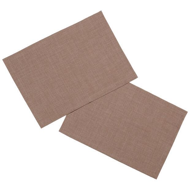 Textil Uni TREND Tovaglietta castano 2pz. 35x50cm, , large