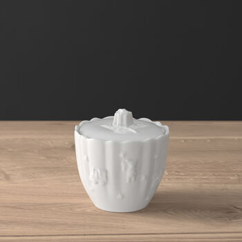 Toy's Delight Royal Classic sugar bowl with lid, white