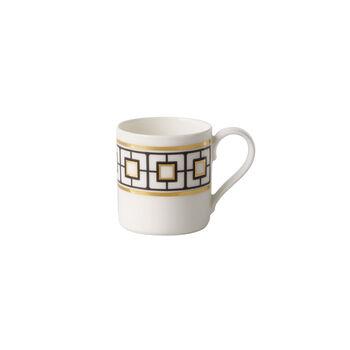 MetroChic tazza da moka e da espresso, 80 ml, bianco-nero-oro