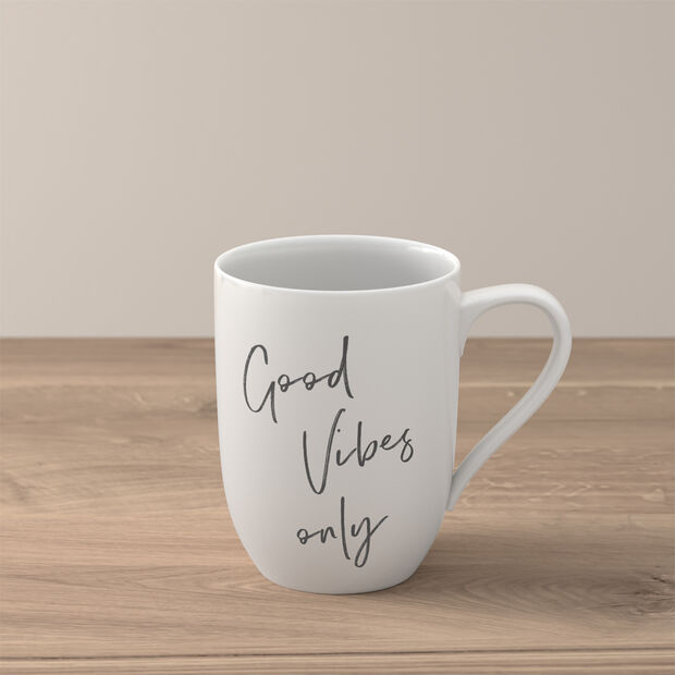 """Statement tazza """"Good Vibes only"""", , large"""