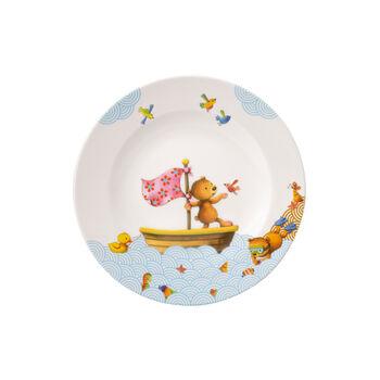 Happy as a Bear Piatto piano bambini 21,5x21,5x1,5cm
