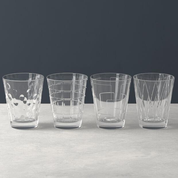 Dressed Up set di bicchieri da acqua Clear 4 pezzi, , large