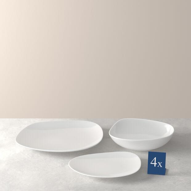 Organic White set básico de platos, blanco, 12 piezas, , large