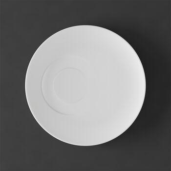 MetroChic blanc Piattino tazza caffè 18,5x18,5x2cm