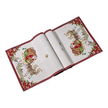 Toy's Fantasy camino de mesa XL de tapiz con motivo de trineo, rojo/varios colores, 49 x 143cm