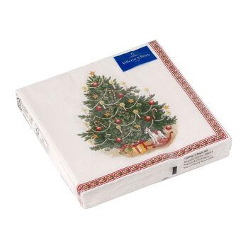 Winter Specials tovagliolo da pranzo, motivo albero di Natale, verde/multicolore, 20 pezzi, 33 x 33 cm