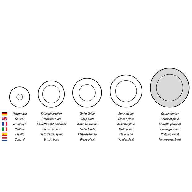 Manufacture Rock piatto da portata/piatto da gourmet quadrato, nero/grigio, 32,5 x 32,5 x 1,5 cm, , large