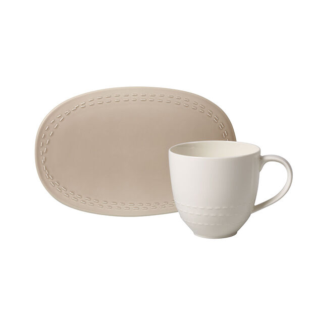 like.by Villeroy & Boch it's my moment Set, 2 pezzi, per 1 persona, almond, , large