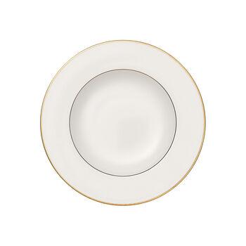 Anmut Gold piatto fondo, diametro 24 cm, bianco/oro