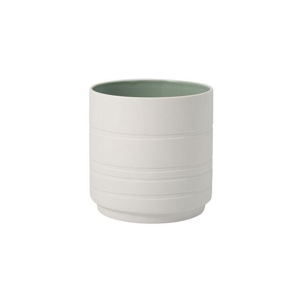 it's my home vaso da fiori Leaf, verde/bianco, , large