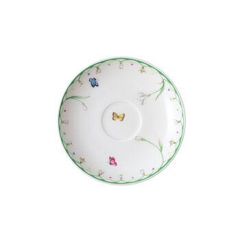 Colourful Spring platillo para taza de expreso, blanco/verde