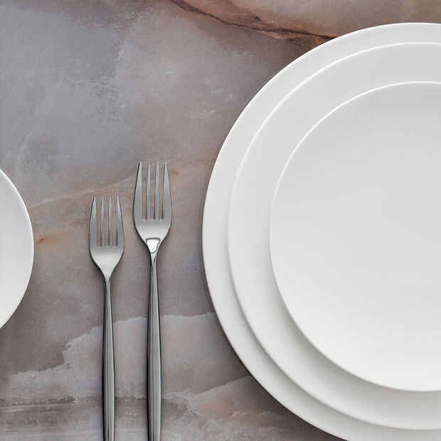 MetroChic blanc piatto segnaposto e piatto da torta, diametro 33 cm, bianco, , large