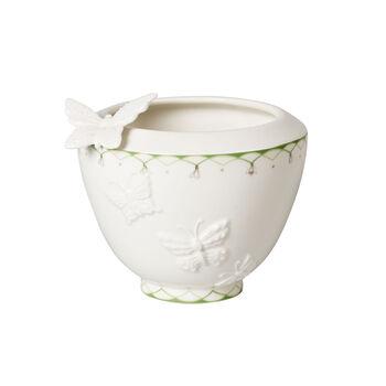 Colourful Spring jarrón pequeño, blanco/verde