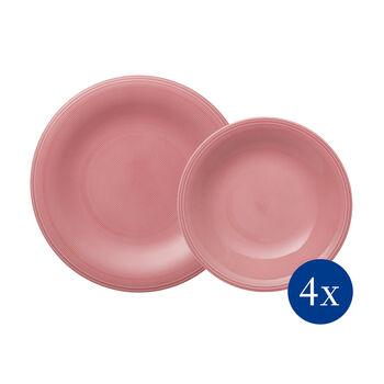 Color Loop Rose set da tavola, rosa, 8 pezzi