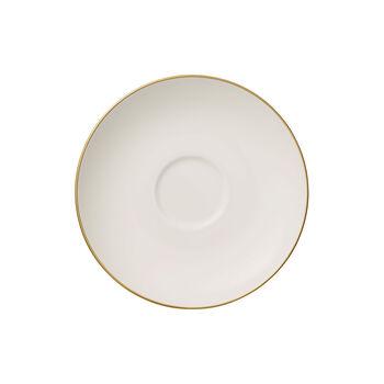 Anmut Gold piattino per tazza da caffè, bianco/oro