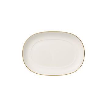 Anmut Gold piattino per salsiera, lunghezza 20 cm, bianco/oro
