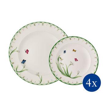 Colourful Spring set di piatti, 8 pezzi, per 4 persone