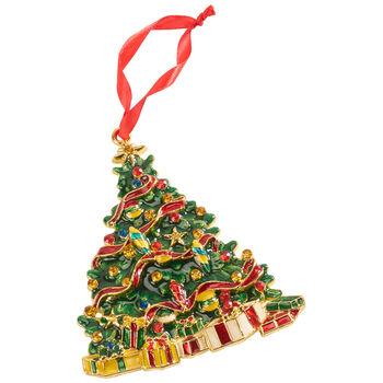 Winter Collage Accessoires pendente di metallo albero, multicolore, 12 cm