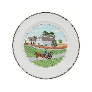 Design Naif plato llano con motivo de granjero