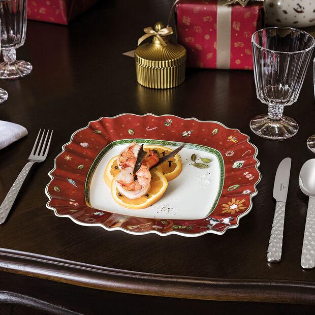 Toy's Delight piatto piano quadrato, rosso/multicolore, 28 x 28 cm, , large
