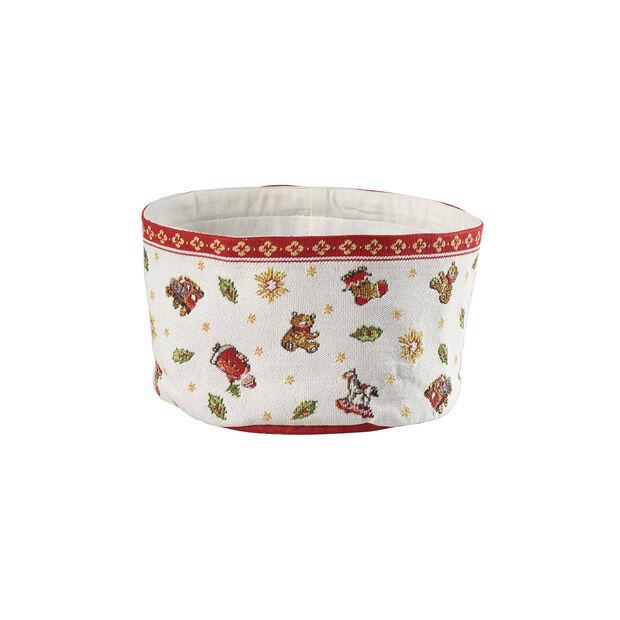 Toy's Delight cesta de tapiz para pan, rojo/varios colores, 15 x 23cm, , large
