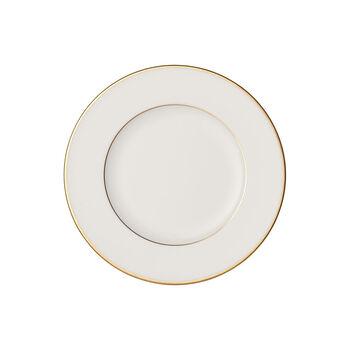Anmut Gold piatto da pane, diametro 16 cm, bianco/oro