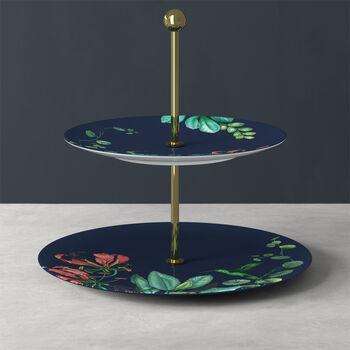Bandeja de pisos Avarua Gifts, 27,5x26,7cm, azul/multicolor