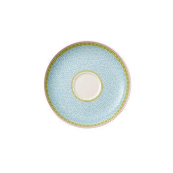 Rose Cottage Piattino tazza tè blu 18cm