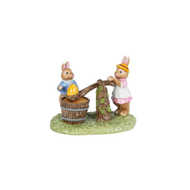 Bunny Tales figura con motivo de pintura de huevos, varios colores, , large