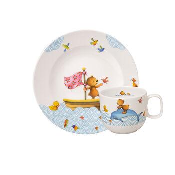 Happy as a Bear Set da colazione per bambini, 2pz.